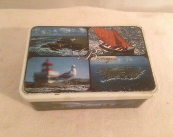 Vintage Metal sugar box TRINITAINE BretagneVintage France