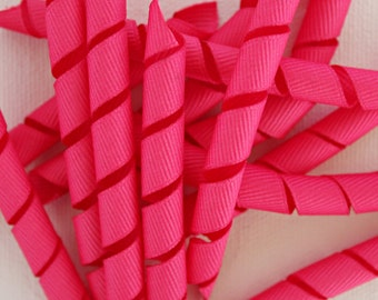 "Korkers Pink - 3"" 3/8 ribbon korkers (qty 12 per order)"