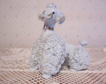 Blue Spaghetti Poodle Figurine