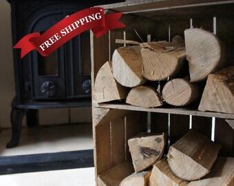 Handmade, Wooden Vintage Apple Crate Shelf - ideal for storage or display