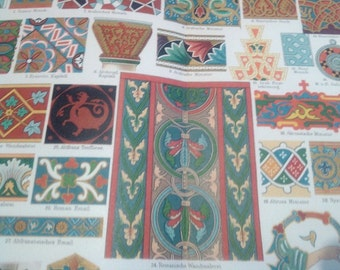 "Chromolithograph ""Ornaments II."""