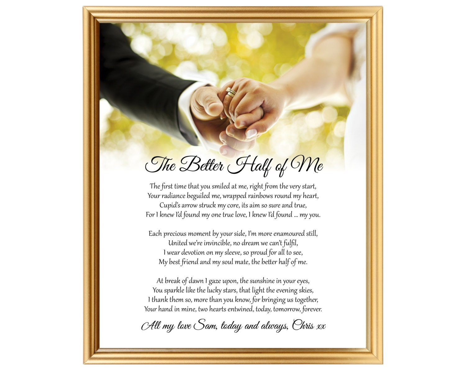Gift For Wedding Anniversary Poem For Him Her For Wife For