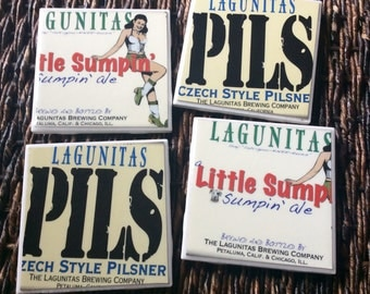 Lagunitas PILS And Little Sumpin' Ale Beer Coasters