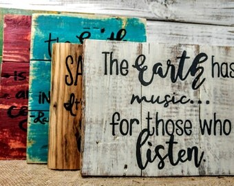 Earth Day pallet sign, rustic home signs, Earth decor, Recycle pallet art, Flower pallet signs, Earth sign, earth quote, save the planet art