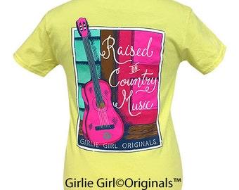 Girlie Girl Originals Country Music Cornsilk Yellow Short Sleeve T-Shirt