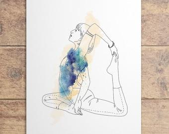 Poster illustration of a yoga posture