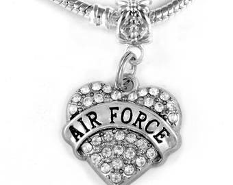 Air Force keychain  Air Force Jewelry Air Force Charm  Military key chain  Airman  pilot  flyer  Military keychain airfore jewelry