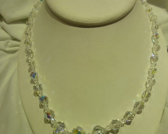 C20 Vintage Sterling and Crystal Necklace.