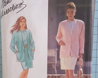 Simplicity 7443 Misses Blouse, Skirt and Lined Jacket Size 4-12