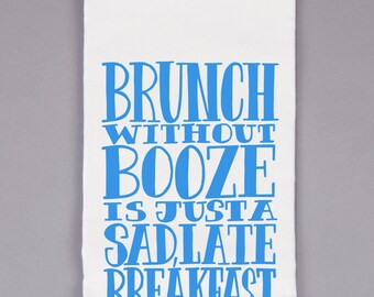 Natural Flour Sack Towel - Booze without Brunch