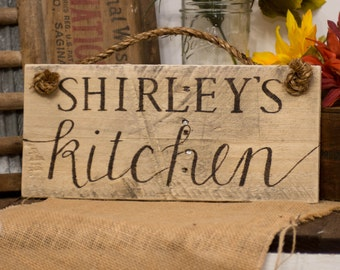 Gift for mom Gift for cook Gift for baker Gift for grandmother Gift for grandma Custom gift ideas Custom kitchen sign Rustic kitchen decor