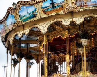 Paris wall art, Paris photo, Merry Go Round Art, Carousel Photography, Paris Decor Bedroom Picture, Carnival Art, Parisian art print