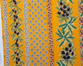French cotton - mustard y...