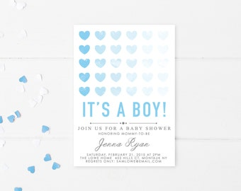 Baby Shower Invitation, Baby Shower Invites for Boys, Boy Baby Shower Invitation, Baby Shower, Boy, Baby Boy, Shower Invitations [203]