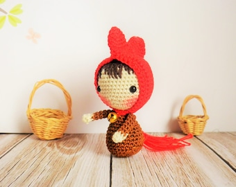 Rooster or hen collection, miniature crochet very very late, 5/6 cm, very very fine, unique toy