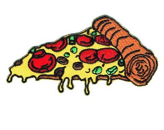 Pizza Iron On Patch Embroidered Applique