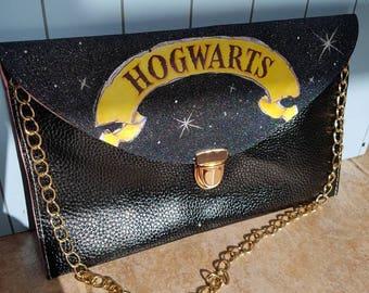 Hogwarts clutch bag. Black glitter bag