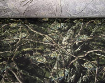 """Fishouflage Crappie Cotton Jersey Knit T-Shirt Camo Hunting Fishing Camouflauge Fabric 56"""" Wide By The Yard 36"""" Long"""