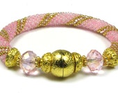 50 OFF Pink on Pink Bead Crochet Bracelet Kit by Ann Benson