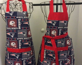 New England Patriots His And Hers Tailgating Apron
