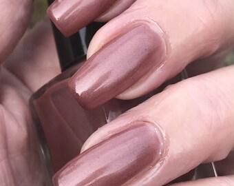 Ice cream Soda mauve brown shimmer nail polish