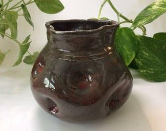 Dimpled Jar/vase