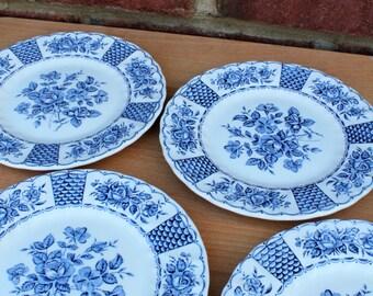 Set of 4 Melody Myott Porcelain Cake Plates