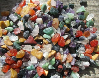 Rough & Tumbled Gemstone Chips