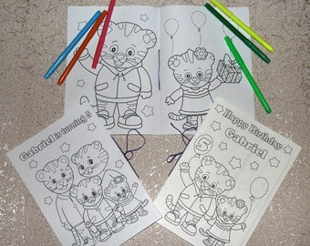 Daniel Tiger Birthday Party coloring pages, activity book, PDF file