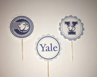 Yale University cupcake toppers