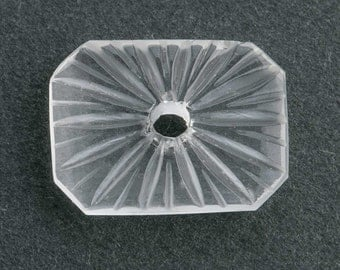 Vintage camphor glass stone. 16x12mm. Pkg of 1. B5-0038(e)