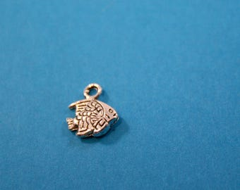 Pewter Fish Charms  10 charms   10 x 9 mm