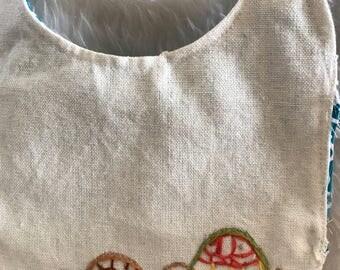 Hand Embroidered baby Bib