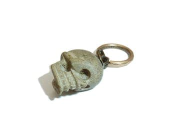 Rare Georgian Lava Skull Fob Charm
