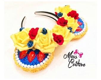 Snow White Floral Crown Minnie Ears