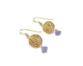 "Vermeil and stones natural ""Maya"" earrings"