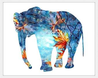 Elephant Print, Elephant Art, Elephant, Elephant Wall Decor ,Elephant Art Print,Elephant abstract,Elephant watercolor,Elephant Decor 149