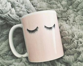 Eyelash Coffee Mug - Pink