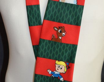 Vintage Rudolph the Red Nosed Reindeer Full Length Necktie