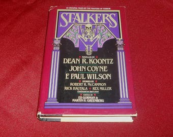 STALKERS Horror Anthology Short Stories Hardcover Book Dean Koontz, Richard Laymon, Joe Lansdale, Max Allan Collins, Robert McCammon