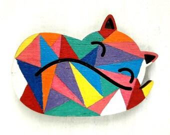 Fox Brooch, Fox Jewelry, Fox Lover Gift, Animal Brooch, Woodland Brooch, Animal Lover Brooch, Gift for Fox Lover, Gift for Animal Lover