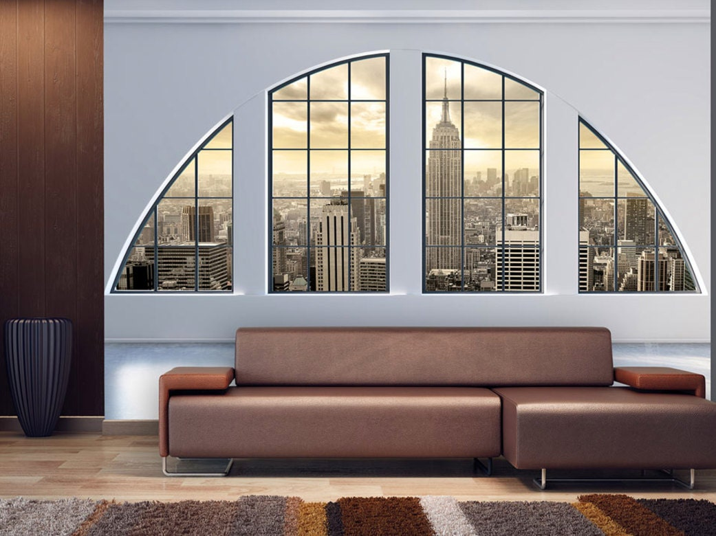New York Skyline Wallpaper For Bedroom Skyline Backdrop Etsy