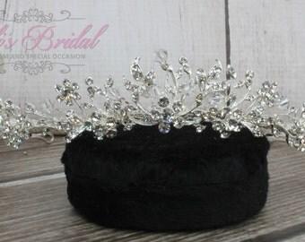 Swarovski Tiara, QuinceaneraTiara, CrystalTiara ,Wedding Tiara, Wedding Headpiece, Bridal Tiara, Crystal Headpiece, Bridal Headpiece