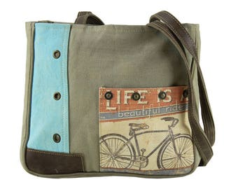 Sunsa woman Shopper Handbag canvas bag shoulder bag Artno.: 51903