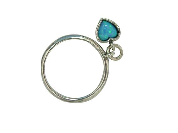 simple rings shablool ring slim ring blue opal rings opal