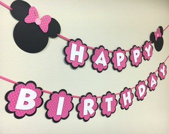 Minnie Mouse Birthday Banner / Minnie Mouse Theme / First Birthday