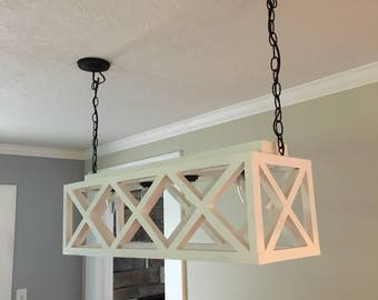 Decorative  handmade wooden hanging light