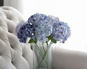 Paper Hydrangea, Blue Hydrangea, Handmade Paper Flowers, Flower Home Decoration