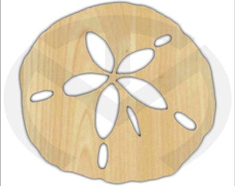 Unfinished Wood Sand Dollar Laser Cutout, Wreath Accent, Door Hanger, Ready to Paint & Personalize, Various Sizes, Beach, Nautical