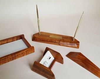 Hawaiian Koa Wood Executive Desk Accesories
